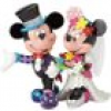 DISNEY Figur Mickey & Minnie Mouse Wedding BRITTO Collection 19cm