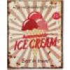 Blechschild HOMEMADE ICE CREAM Vintage Nostalgie 25x20cm