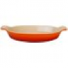 Le Creuset Auflaufform Tradition Oval Steinzeug Ofenrot 28cm