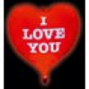 TIB Heyne Folienballon LED-Gigaloon HERZ - I love you